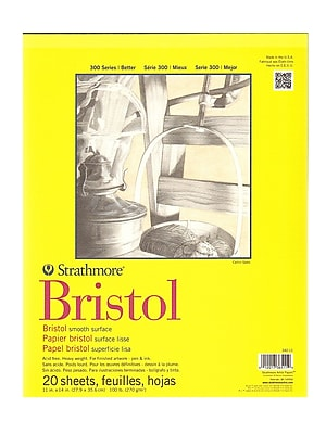 Strathmore 300 Series Bristol Smooth 11 In. X 14 In. [Pack Of 2] (2PK-342-11-1)