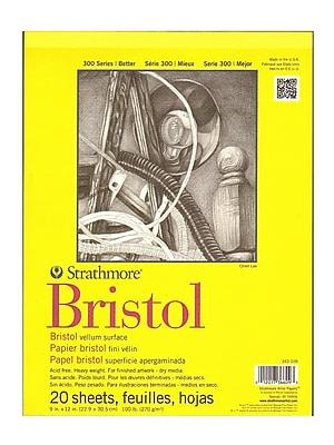 Strathmore 300 Series Bristol Vellum 9 In. X 12 In. [Pack Of 2] (2PK-342-109-1)