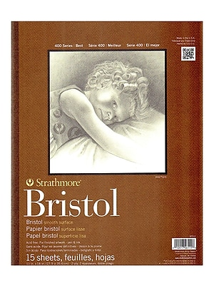 Strathmore 400 Series Bristol Pads 11 In. X 14 In. Smooth 15 Sheets (475-2-1)