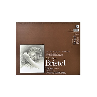 Strathmore 400 Series Bristol Pads 14 In. X 17 In. Smooth 15 Sheets (475-14-1)