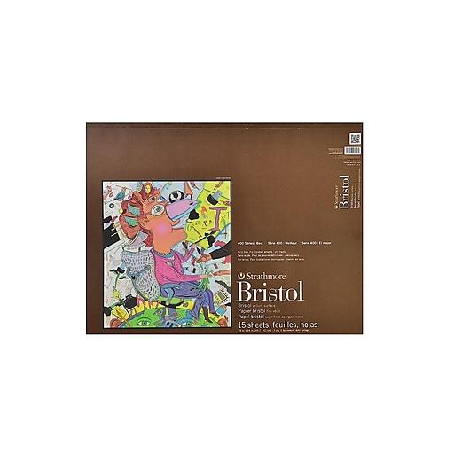 Strathmore 400 Series Bristol Pads 18 In. X 24 In. Vellum 15 Sheets (475-9-1)