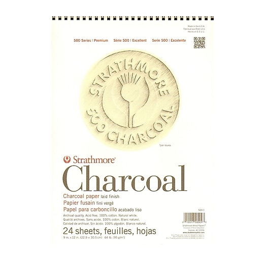 Strathmore 500 Series Charcoal Paper Pads White 9 In. X 12 In. (560-1-1)