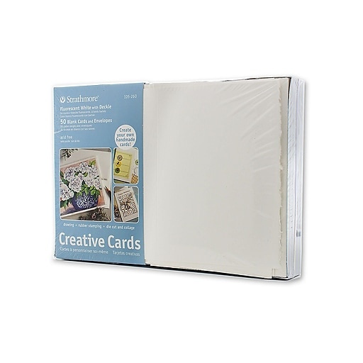 Strathmore blank greeting cards with envelopes flourescent white httpsstaples 3ps7is images for strathmore blank greeting cards m4hsunfo