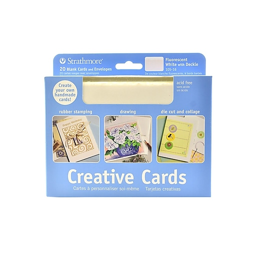 Strathmore blank greeting cards with envelopes fluorescent white httpsstaples 3ps7is images for strathmore blank greeting cards m4hsunfo