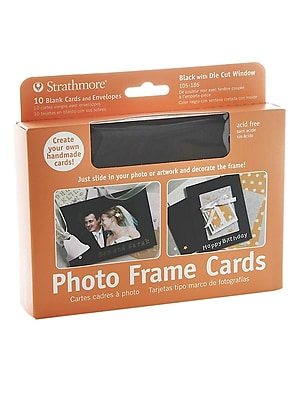Strathmore Photoframe Greeting Card Black Pack Of 10 [Pack Of 2] (2PK-105-186-1)