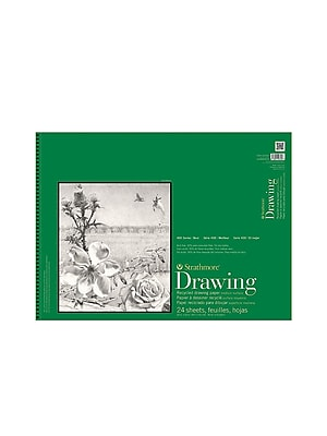 Strathmore Series 400 Premium Recycled Drawing Pads 14 In. X 17 In. [Pack Of 2] (2PK-443-14-1)