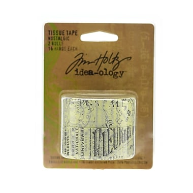 Tim Holtz Idea-Ology Paperie Tissue Tape - Nostalgic 2 16 Yd. Rolls [Pack Of 2] (2PK-IDA92828)
