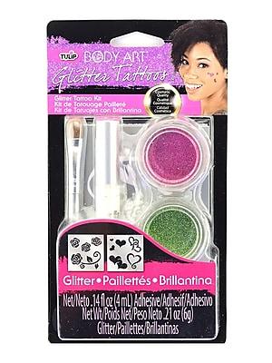 Tulip Body Art Glitter Tattoo Kits Pink [Pack Of 2] (2PK-32384)