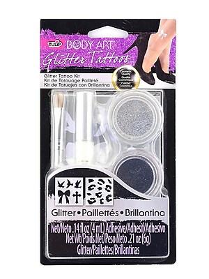 Tulip Body Art Glitter Tattoo Kits Silver [Pack Of 2] (2PK-32422)