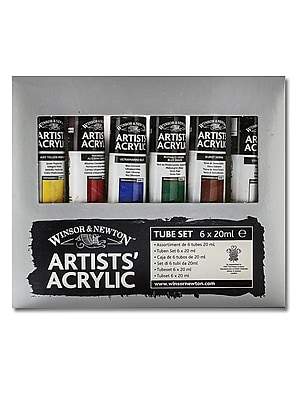 Winsor And Newton Artists' Acrylic Colour Introductory Set Set Of 6 (2390400) 2246188