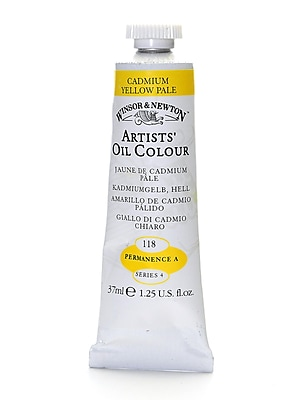 Winsor And Newton Artists' Oil Colours Cadmium Yellow Pale 118 37 Ml (1214118)