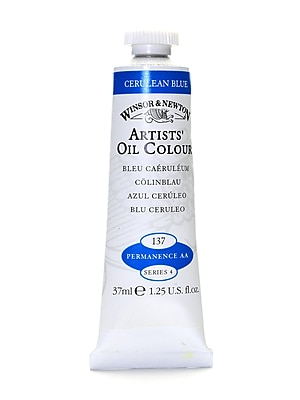 Winsor And Newton Artists' Oil Colours Cerulean Blue 137 37 Ml (1214137)