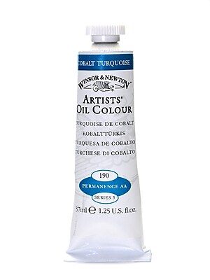 Winsor And Newton Artists' Oil Colours Cobalt Turquoise 190 37 Ml (1214190)