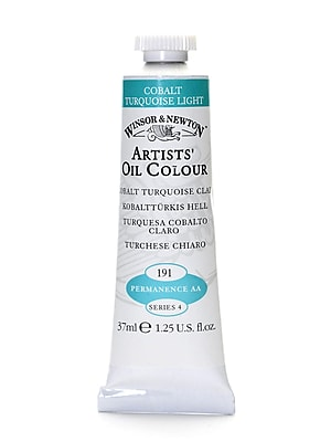 Winsor And Newton Artists' Oil Colours Cobalt Turquoise Light 191 37 Ml (1214191)