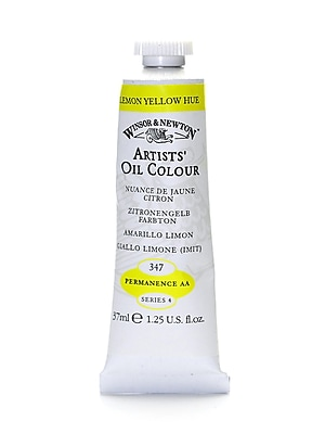 Winsor And Newton Artists' Oil Colours Lemon Yellow Hue 347 37 Ml (1214347)