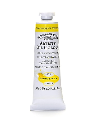Winsor  And  Newton Artists' Oil Colours Transparent Yellow 653 37 Ml (1214653)