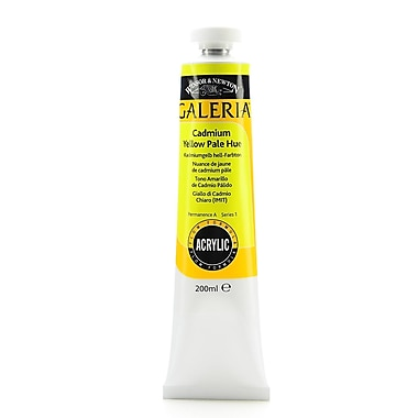 Winsor And Newton Galeria Flow Formula Acrylic Colours Cadmium Yellow Pale Hue 200 Ml 114 [Pack Of 2] (2PK-2136114)