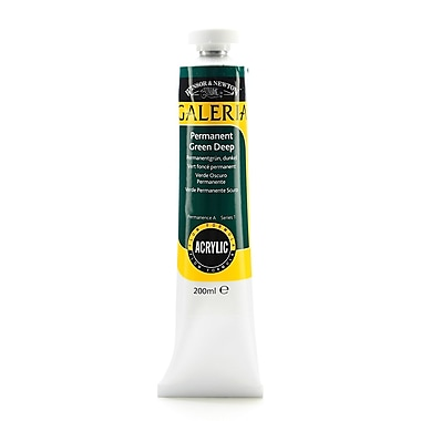 Winsor And Newton Galeria Flow Formula Acrylic Colours Permanent Green Deep 200 Ml 482 [Pack Of 2] (2PK-2136482)