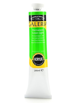 Winsor And Newton Galeria Flow Formula Acrylic Colours Permanent Green Light 200 Ml 483 [Pack Of 2] (2PK-2136483)