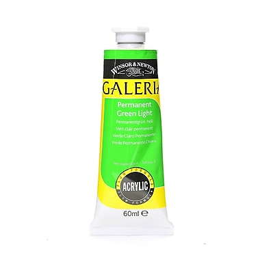 Winsor And Newton Galeria Flow Formula Acrylic Colours Permanent Green Light 60 Ml 483 [Pack Of 4] (4PK-2120483)