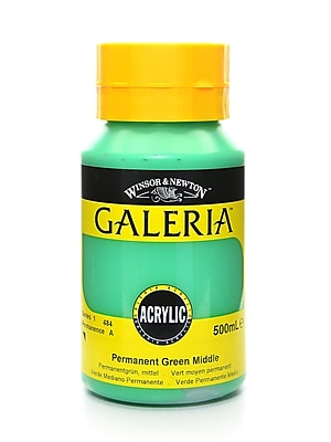 Winsor And Newton Galeria Flow Formula Acrylic Colours Permanent Green Middle 500 Ml 484 (2150484)