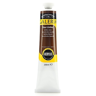 Winsor And Newton Galeria Flow Formula Acrylic Colours Raw Umber 200 Ml 554 [Pack Of 2] (2PK-2136554)