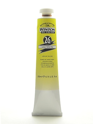 Winsor And Newton Winton Oil Colours 200 Ml Lemon Yellow Hue 26 (1437346)