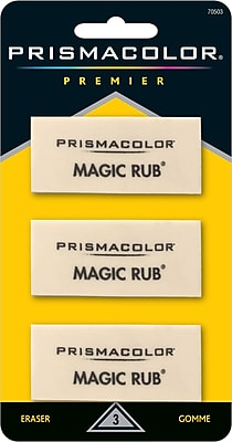 Prismacolor ® MAGIC RUB® Art Eraser, White, 3/pk (70503)