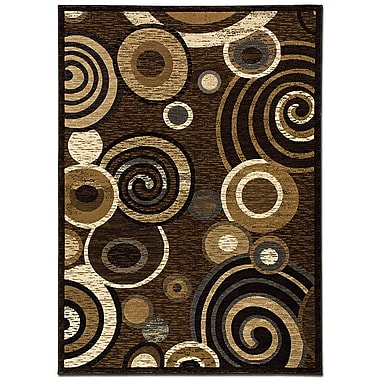 AllStar Rugs Circles Chocolate Area Rug; 7'9'' x 10'5''