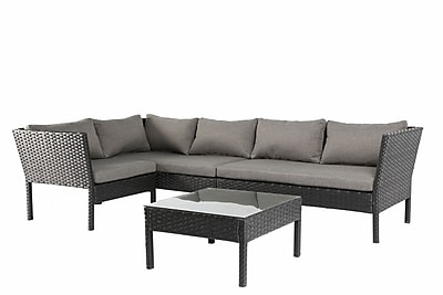 Baner Garden 4 Piece Sofa Set w/ Cushions