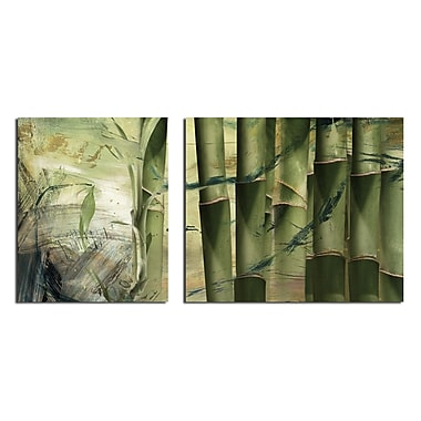 Ready2hangart 'Abstract Bamboo' 2 Piece Graphic Art on Wrapped Canvas Set