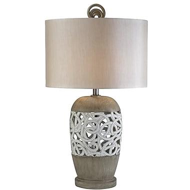 OK Lighting Carved Strings 32.5'' Table Lamp
