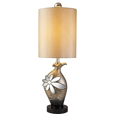 OK Lighting Floral Glamour 35'' Table Lamp