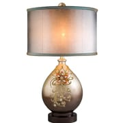 OK Lighting Sapphire Rose 30'' Table Lamp