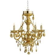 River of Goods Luxury Jewel 5-Light Crystal Chandelier