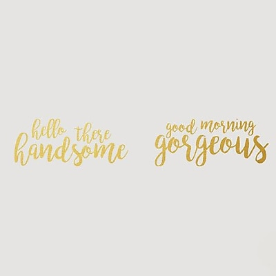 SweetumsWallDecals Handsome Gorgeous Wall Decal; Gold