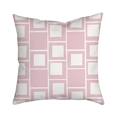SafiyaJamila Square Up Geometric Throw Pillow; Pink