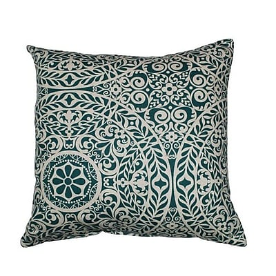 Swan Dye and Printing Tachenda Throw Pillow; Teal