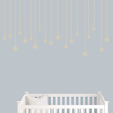 SweetumsWallDecals Hanging Star Wall Decal; Beige