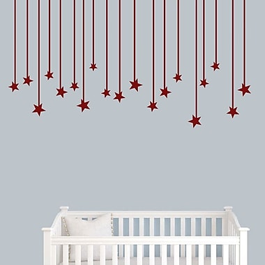 SweetumsWallDecals Hanging Star Wall Decal; Cranberry