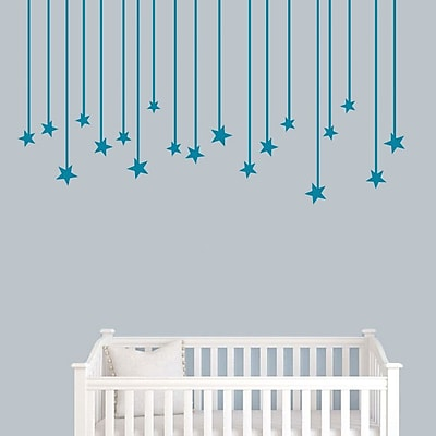 SweetumsWallDecals Hanging Star Wall Decal; Teal