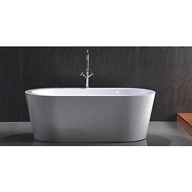Kardiel HelixBath Pella 59'' x 29.5'' Soaking Bathtub