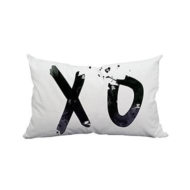 SafiyaJamila Hugs and Kisses XO Textual Polyester Lumbar Pillow