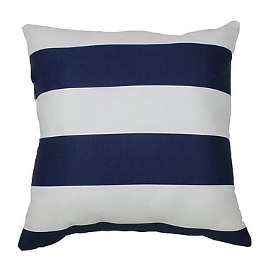 Swan Dye and Printing Cabana Stripe Throw Pillow