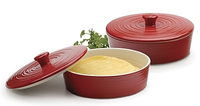 RSVP-INTL Tortilla Warmer; Red