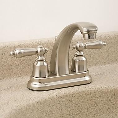 WaxmanConsumerGroup AquaLife Standard Double Handle Centerset Bathroom Faucet w/ Drain Assembly