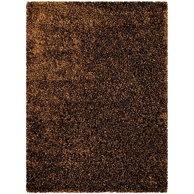 AllStar Rugs Handmade Brown Area Rug; 4'11'' x 6'11''