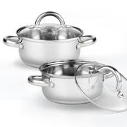Cook N Home 1.5-qt.Saucier w/ Lid (Set of 2)