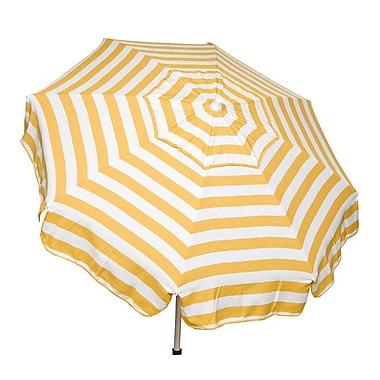 Parasol 6' Italian Drape Umbrella; Yellow / White