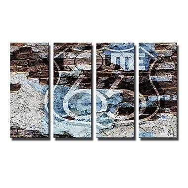 Ready2hangart 'Born2BWild XII' 4 Piece Graphic Art on Canvas Set